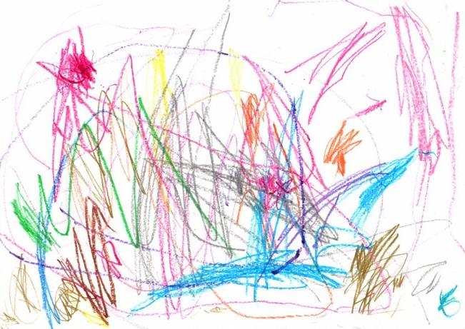 Children S Scribble Drawing : Childhood nightmares children drawing center